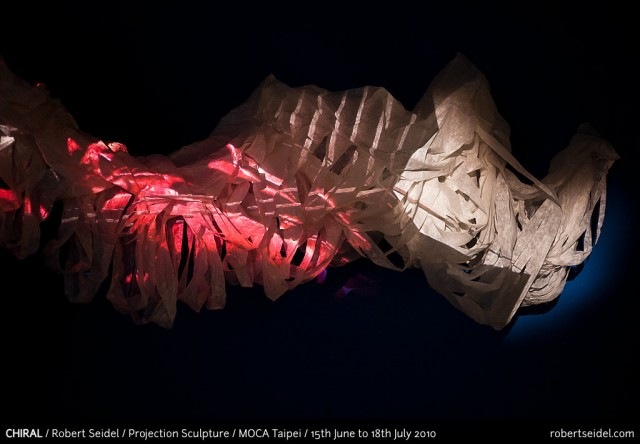 Chiral | Projection & Paper sculpture | Taiwan/Germany 2010
