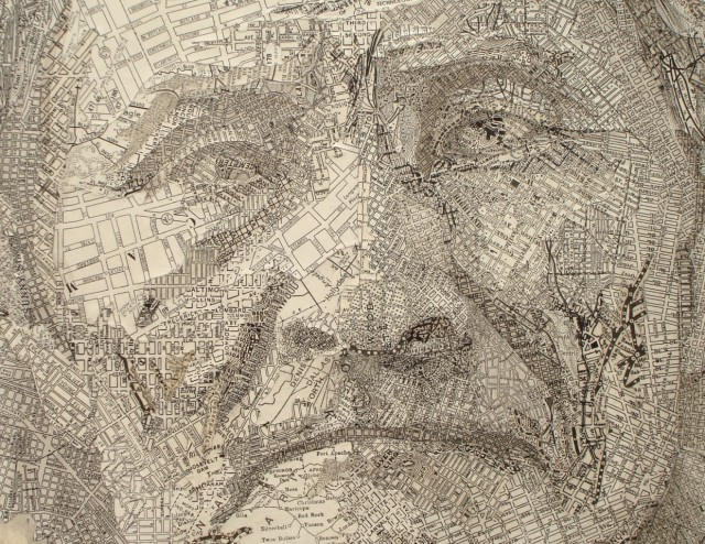 Map Collage Of Geronimo By Matthew Cusick Strictlypaper - Where was geronimo on a us map