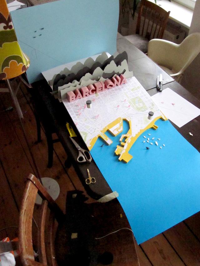 anna haerlin - barcelona map - making of 2