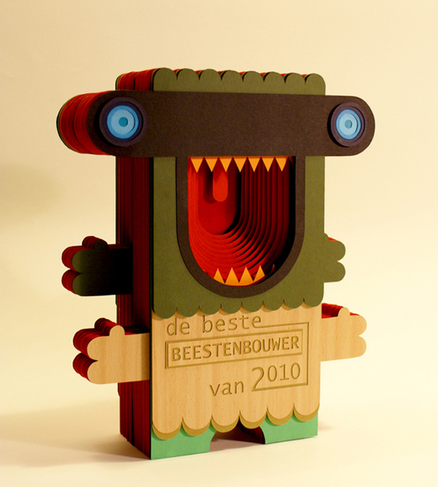 Handcut Paper Beast Award Sigrid Spier