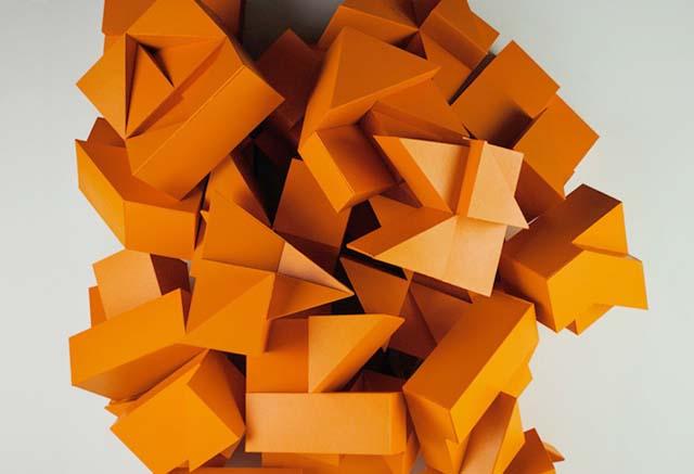 Tim Fishlock Origami Alphabet Relief
