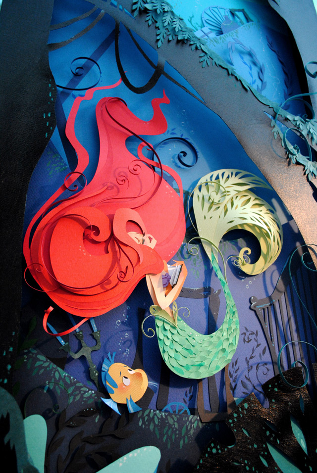 Brittney Lee Little Mermaid Paper Sculpted Canvas