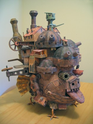 Howl&#039;s Moving Castle Papercraft - Ben Millet 2 - detail