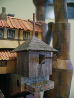 Howl&#039;s Moving Castle Papercraft - Ben Millet 5 - detail