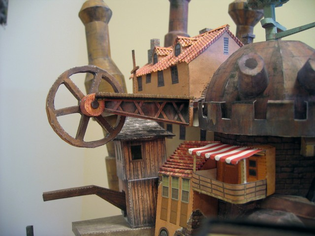Howl&#039;s Moving Castle Papercraft - Ben Millet 8 - detail