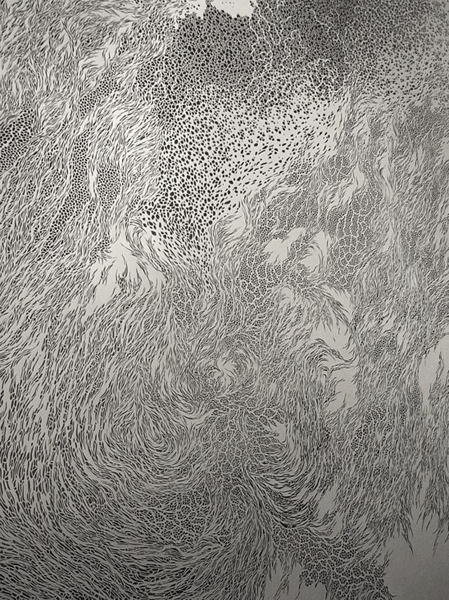 Incredible Paper Cut Tapestries by Tomoko Shioyasu