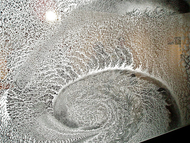 Incredible Paper Cut Tapestries by Tomoko Shioyasu Vortex