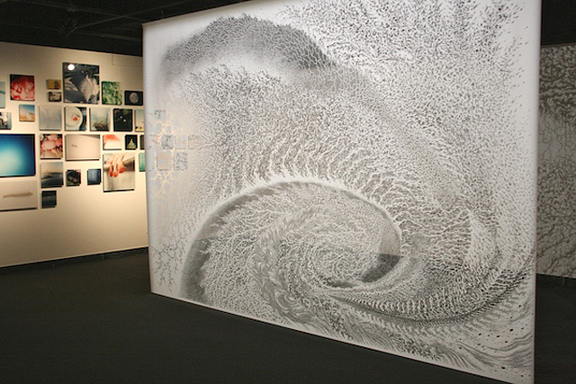 Incredible Paper Cut Tapestries by Tomoko Shioyasu Vortex