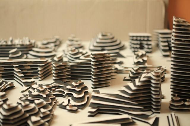 3D Alphabet Paper Sculptures by Jerome Corgier