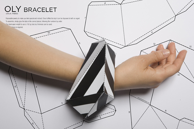 OLY Paper Bracelet by Gonalo Campos