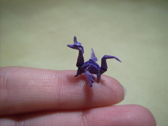 Nano Origami Sculptures by Anja Markiewicz
