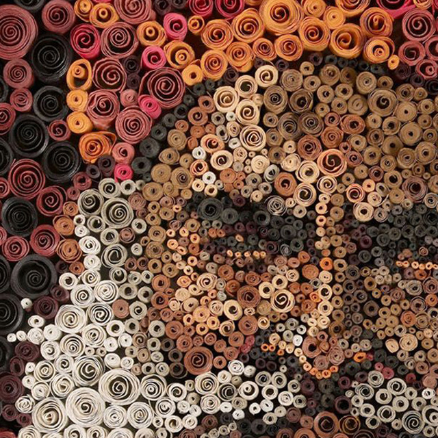 Tiny Rolled Paper Portraits by Anant Nanvare