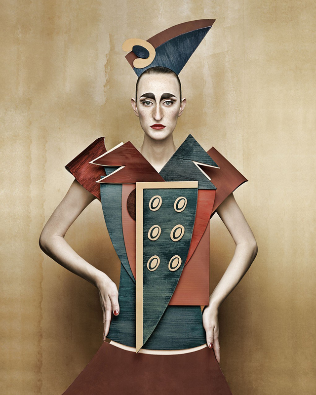 Cardboard Ladies by Christian Tagliavini Cubist