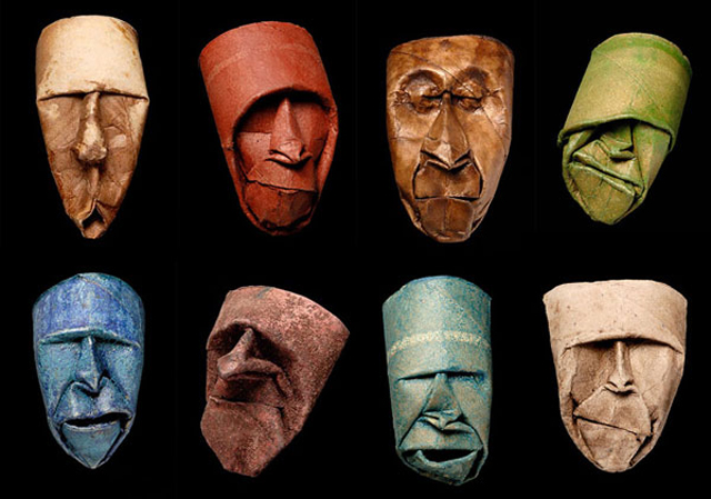 Origami Toilet Paper Roll Masks by Fritz Junior Jacquet ...