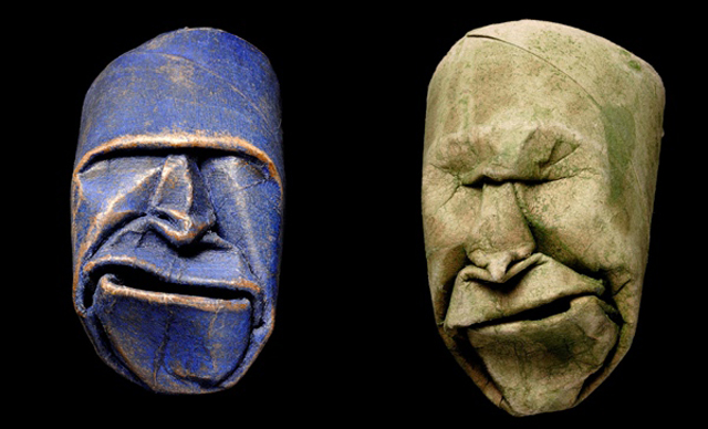 Toilet Paper Roll Masks by Fritz Junior Jacquet