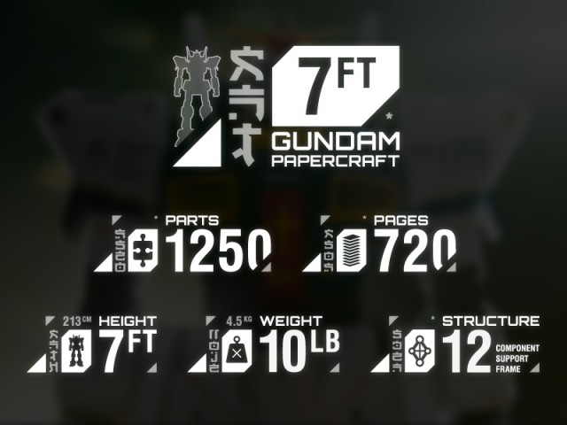 Strictlypaper - 7ft Gundam Papercraft - Visualspicer - Taras Lesko - Branding