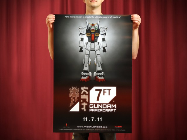 Strictlypaper - 7ft Gundam Papercraft - Visualspicer - Taras Lesko - Poster Print