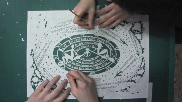 The Heathrow Christmas card - almost finished paper cut