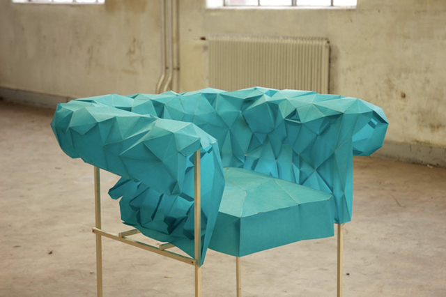 Polygonal Paper Chair by Christian Fiebig
