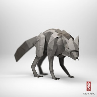 Jeremy Kool - The Paper Fox - Wolf