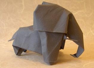 Origami Elephant by Akira Yoshizawa