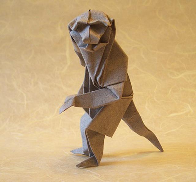 Origami Monkey by Akira Yoshizawa