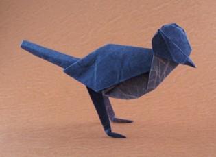 Origami Wagtail by Akira Yoshizawa