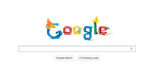 Google Logo Celebrating Akira Yoshizawa by Robert Lang