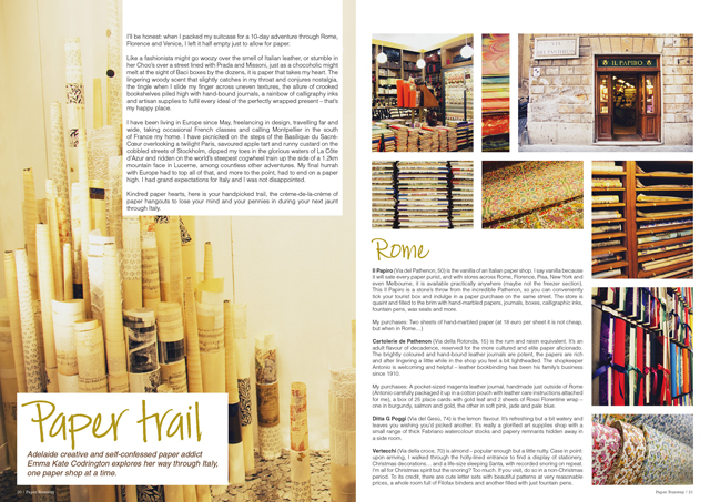 Interview With Quarterly Magazine Paper Runway