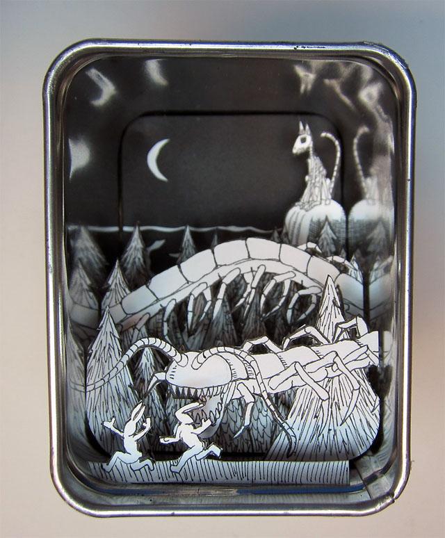 Miniature Paper Worlds of Jim Doran