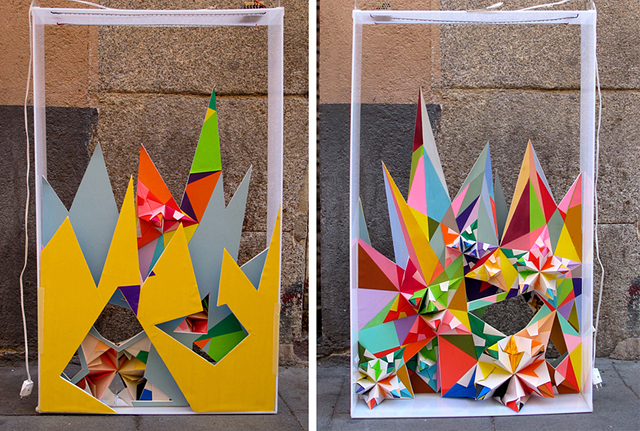 Colorful 3D Paper Sculptures by Nuria Mora