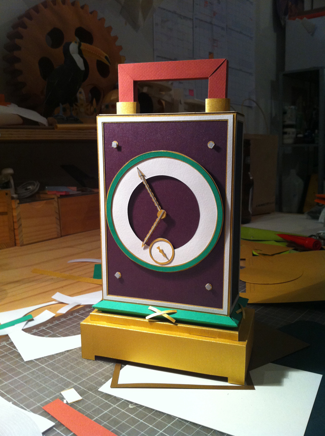Interview With Paper Artist Benja Harney Clock