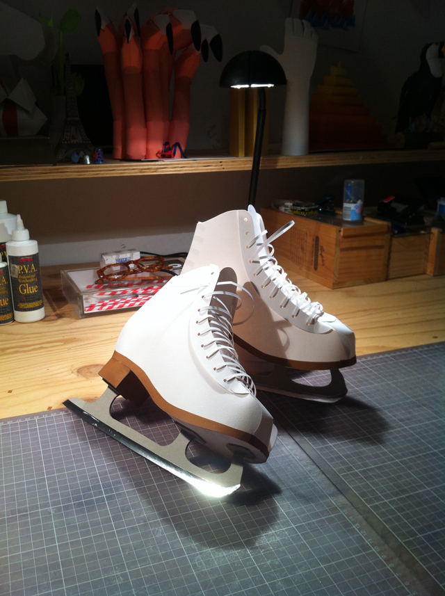 Interview With Paper Artist Benja Harney Ice Skates