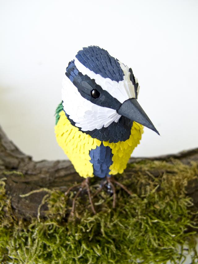 Paper Tomtit Sculpture By Kiki Peeters