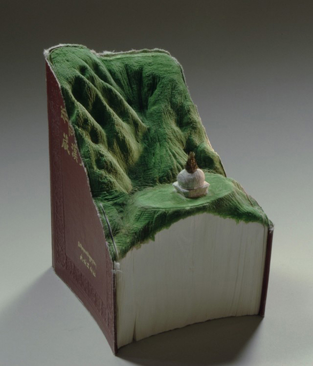 Unique Carved Book Sculptures from Guy Laramee
