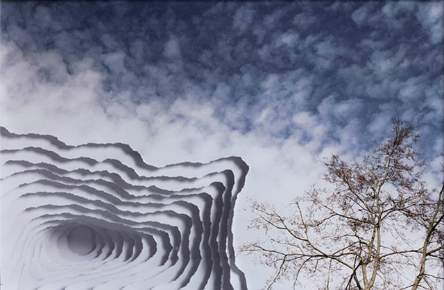 Clouds, Smoke and Portals from Torn Photographs