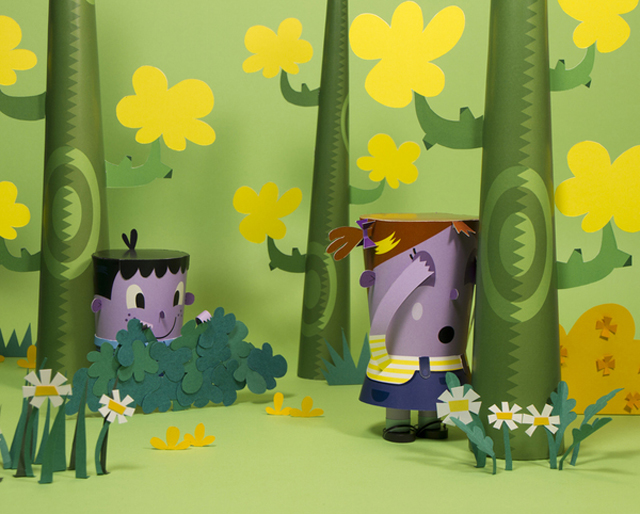 Whimsical Paper Craft Dioramas For Editorial SM