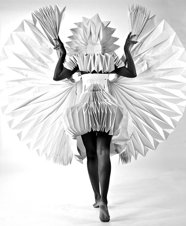 Carnival Costumes Made from Folded Paper