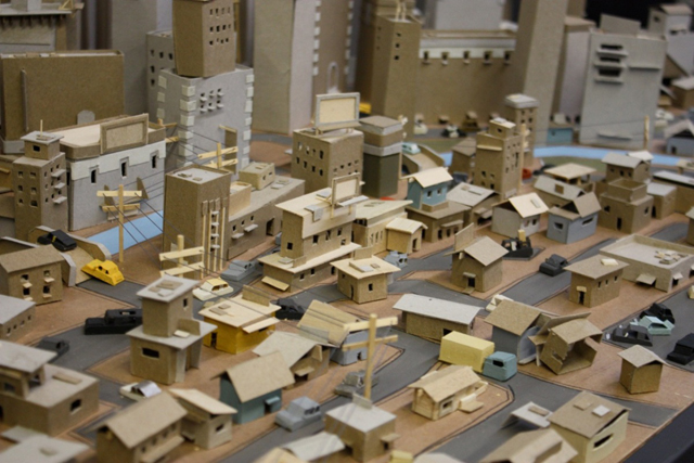Tiny Cityscapes Crafted From Scraps Of Cardboard
