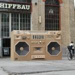 Bartek Elsner - Mini Ghettoblaster - Paper Sculpture - Front