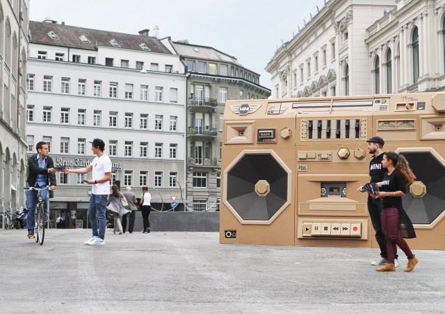 Bartek Elsner - Mini Ghettoblaster - Cardboard Sculpture