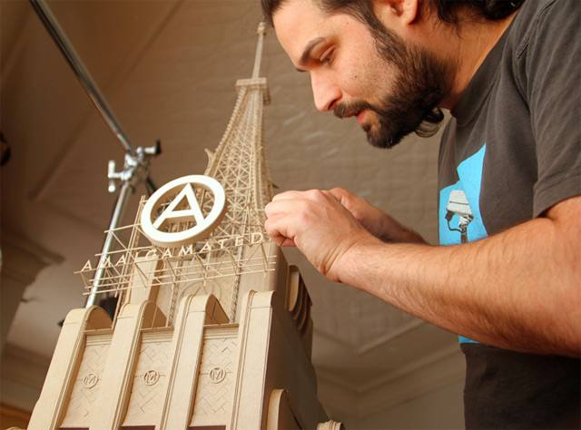 Sets for a Film I Will Never Make: Incredible Intricate Cardboard Sculptures by Daniel Agdag