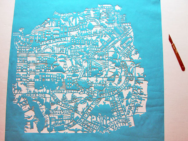 Famille Summerbelle: San Francisco Paper Cut Map