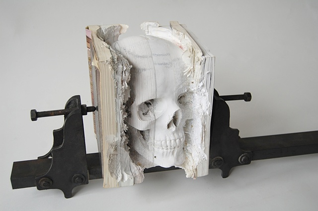 Carved book sculpture by maskull lasserre strictlypaper