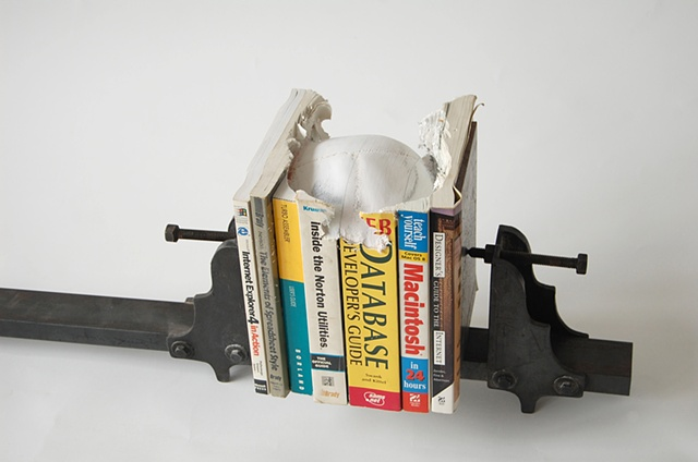 Carved Book Sculpture by Maskull Lasserre