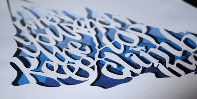 Proverbs: Layered Paper Cut Typography