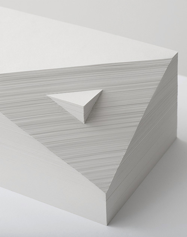 Bianca Chang - Form in white (Double prism), 2012 Paper