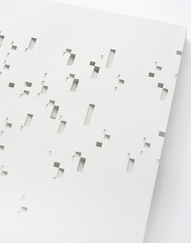 Bianca Chang - Form in white (Noise II), 2012 Paper
