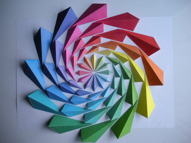 Colorful Origami Mosaics by Kota Hiratsuka