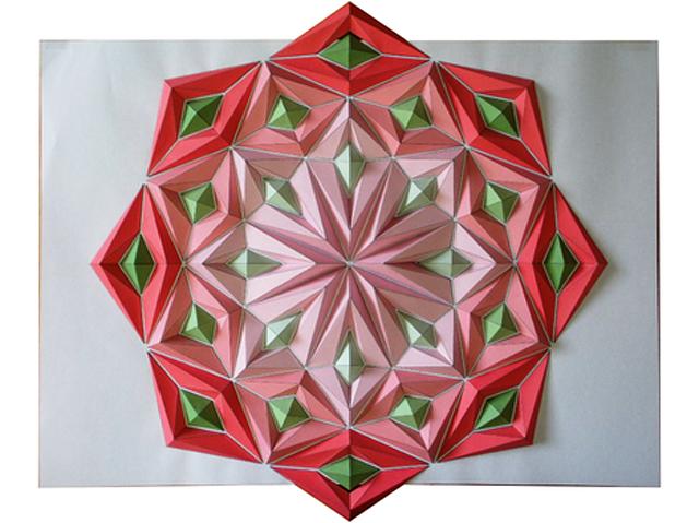 Colorful Origami Mosaics by Kota Hiratsuka